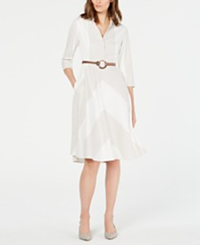 Elie Tahari Candence Striped Midi Dress