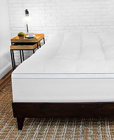 SensorGel MemoryLOFT® 3.5'' Gel-Infused California King Memory Foam and Fiber Mattress Topper