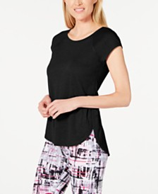 Calvin Klein Performance Cap-Sleeve High-Low Hem Top