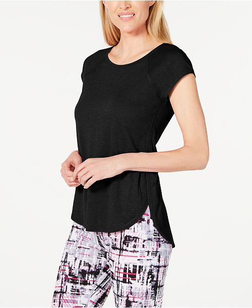 Calvin Klein Cap-Sleeve High-Low Hem Top