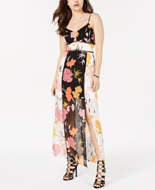 GUESS Sleeveless Printed Maxi Dress