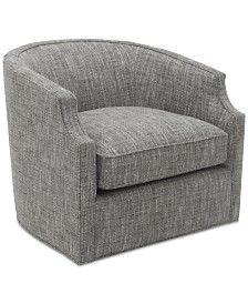 "Hotel Collection Elisabeta 32"" Fabric Accent Swivel Glider Chair"