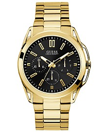 GUESS Men's Gold-Tone Stainless Steel Bracelet Watch 44mm