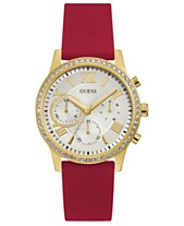 d46df726c85 GUESS Women s Red Silicone Strap Watch 40mm