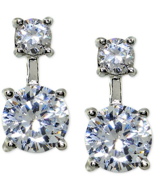 2d9b85c9e ... Giani Bernini Cubic Zirconia Double Drop Earrings in Sterling Silver,  Created for Macy's ...