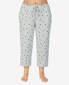 Plus Size Yours to Love Capri Pajama Pants