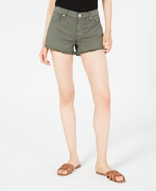7 For All Mankind Raw-Hem Denim Shorts