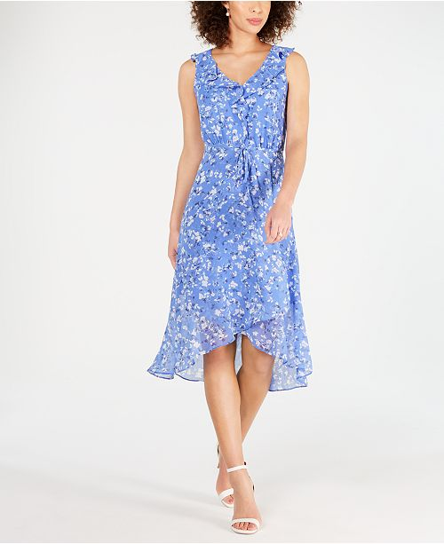 INC International Concepts I.N.C. Ruffled Midi Dress, Created for Macy's