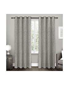 "Forest Hill Woven Blackout Grommet Top Curtain Panel Pair, 52"" x 96"""