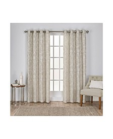 Lamont Jacquard Grommet Top Curtain Panel Pair