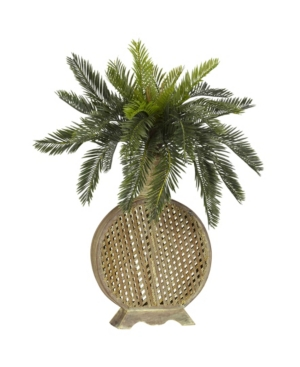 Nearly Natural Cycas w/ Decorative Vase Silk Plant