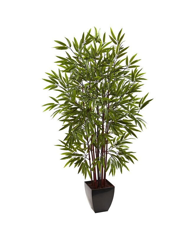 Nearly Natural 5' Bamboo Silk Tree w/ Planter