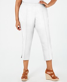 MICHAEL Michael Kors Plus Size Pull-On Capri Pants