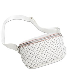 I.N.C. Contrast-Stitch Fanny Pack, Created for Macy's