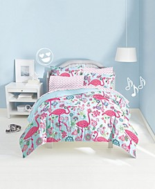 Flamingo Twin Comforter Set
