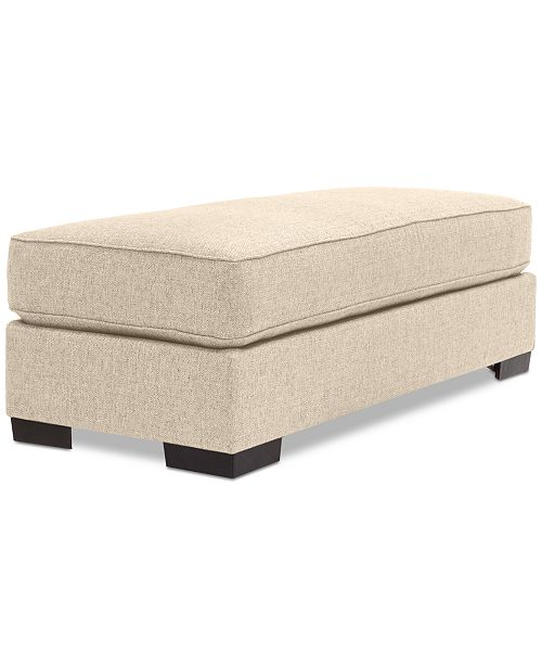 Furniture Ainsley Fabric Ottoman, Created for Macy's