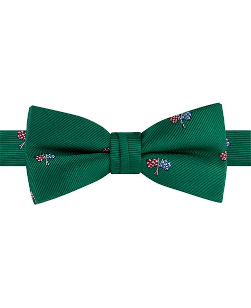 Tommy Hilfiger Toddler & Little Boys Racing Pre-Tied Silk Bow Tie