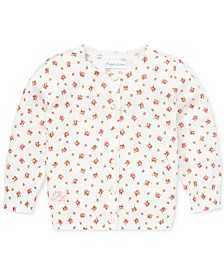 Polo Ralph Lauren Baby Girls Floral Cotton Cardigan