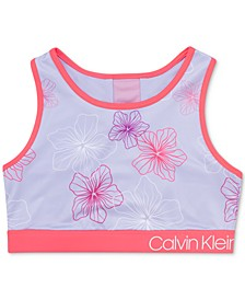 Big Girls Floral-Print Sports Bra