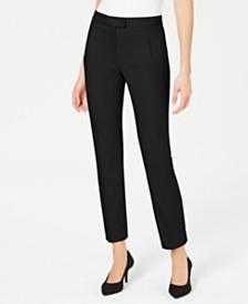 Alfani Petite Tummy-Control Slim-Leg Pants, Created For Macy's