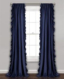 """Reyna Ruffle 54"""" x 108"""" Curtain Set"""