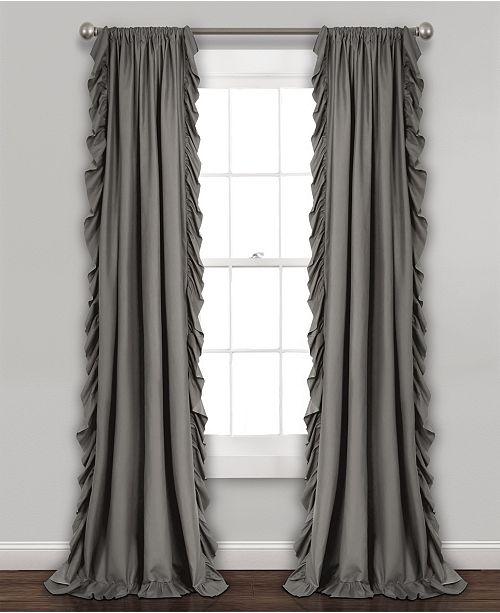 """Lush Decor Reyna Ruffle 54"""" x 63"""" Curtain Set"""
