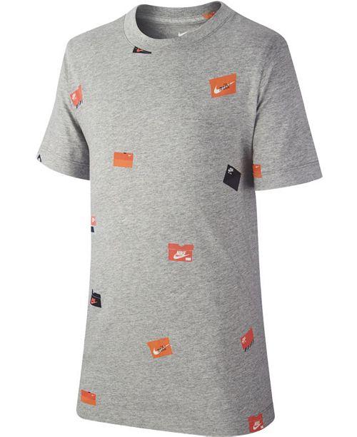1739141a9 Nike Big Boys Shoebox-Print Cotton T-Shirt & Reviews - Shirts & Tees ...