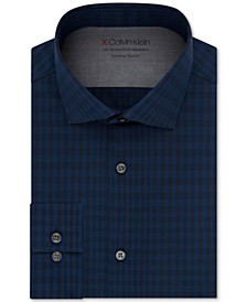 Men's Extra Slim-Fit Plaid Dress Shirt