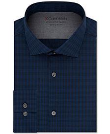 Calvin Klein Men's Extra Slim-Fit Plaid Dress Shirt
