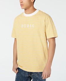 GUESS Originals Men's Go Stripe Logo Graphic T-Shirt