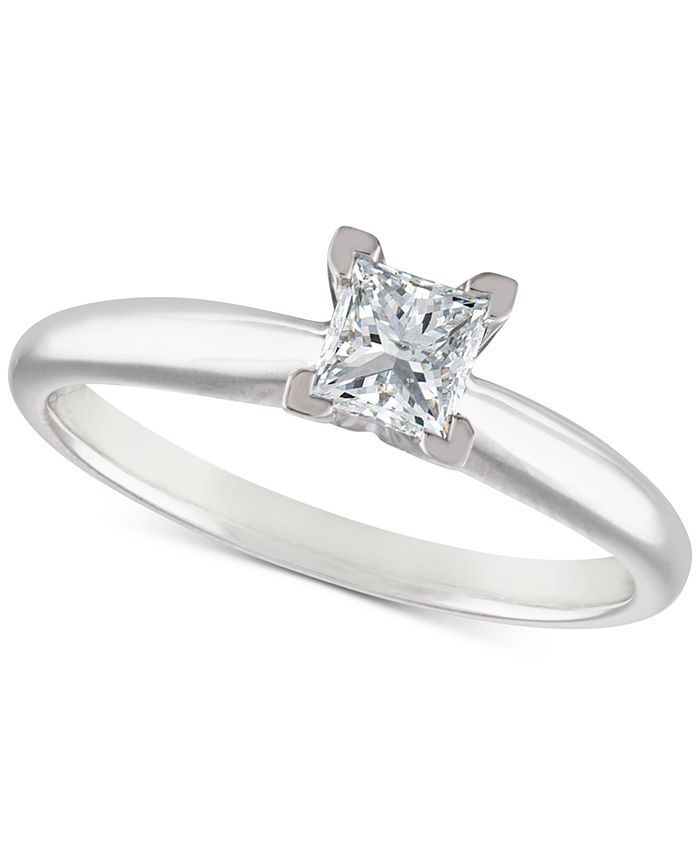 Macy's - Certified Diamond Engagement Ring (1/2 ct. t.w.) in 18k White Gold