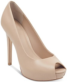 GUESS Women's Honora Peep-Toe Platform Pumps