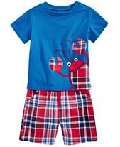 d508f6d76f6 First Impressions Baby Boys Crab T-Shirt   Plaid-Print Shorts Separates
