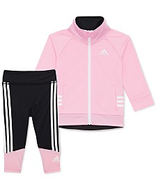 adidas Little Girls 2-Pc. Running Jacket & Leggings Set