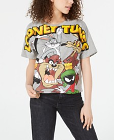 Freeze Juniors' Looney Tunes Cropped Graphic T-Shirt