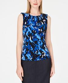 Calvin Klein Sleeveless Pleat-Neck Camisole