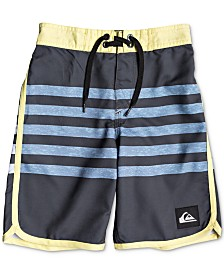 Quiksilver Little Boys Striped Swim Trunks