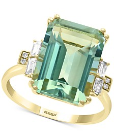 EFFY® Green Quartz (6-9/10 ct. t.w.) & Diamond (1/5 ct. t.w.) Ring in 14k Gold