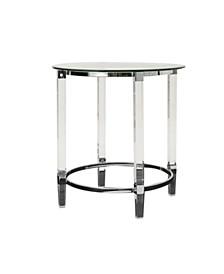 Orianna Acrylic and Tempered Glass Circular Table
