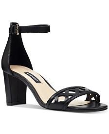 Nine West Paisley Block-Heel Sandals