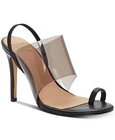 I.N.C. Women's Rylea Toe-Ring Vinyl-Band Sandals, Created for Macy's