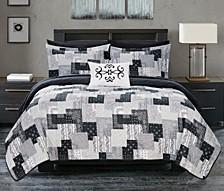 Eliana 8 Piece Queen Bed in a Bag Quilt Set