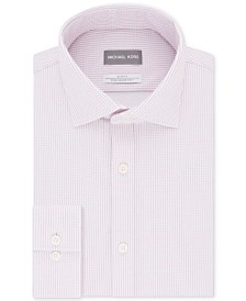 Michael Kors Men's Slim-Fit Non-Iron Performance Knit Check Print Dress Shirt