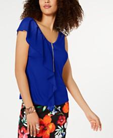 Thalia Sodi Ruffle Blouse, Created for Macy's