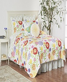 Lilly Full Queen 3 Piece Quilt Set