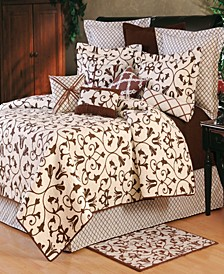 Seraphina Brown Full Queen 3 Piece Quilt Set