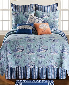 Hampstead Toile Twin 2 Piece Quilt Set