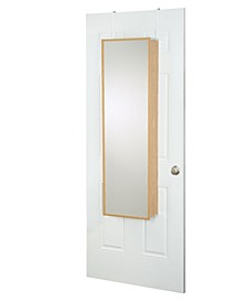 Over The Door Wall Mounted Cosmetic Storage Armoire with Mirror