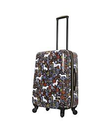 "Vicky Yorke Urban Jungle Dogs 24"" Hardside Spinner Luggage"