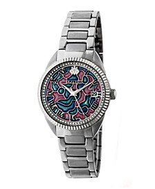 Helena Automatic Silver Stainless Steel Watch 36mm